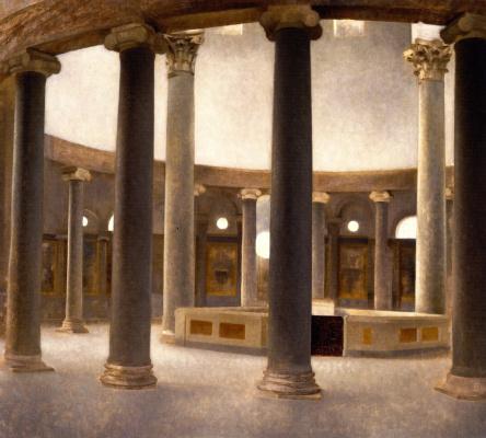 Vilhelm Hammershøi. Rotunda of St. Stephen in Rome