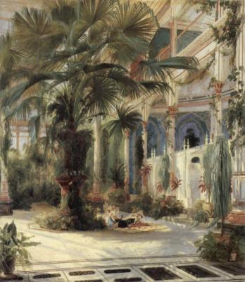 Карл Эдуард Фердинанд Блехен. Пальмовая оранжерея на Павлиньем острове близ Потсдама