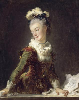 Jean Honore Fragonard. Portrait of Marie Anne eléonore de Grave