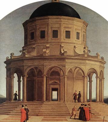 Raphael Santi. Wedding Of The Virgin. Fragment