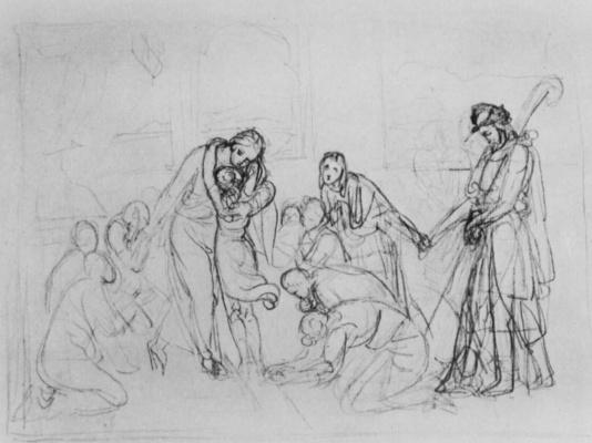 Peter von Cornelius. Joseph revealed to brothers