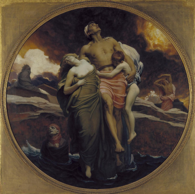 Frederic Leighton. And she gave the sea of the dead that were in it.