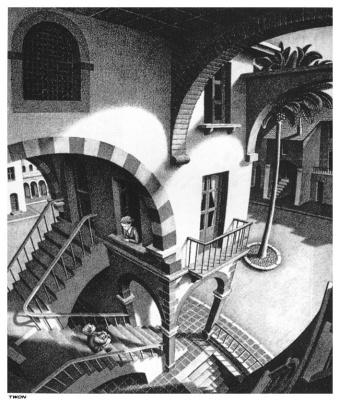 Мауриц Корнелис Эшер. Вверх и вниз. Фрагмент