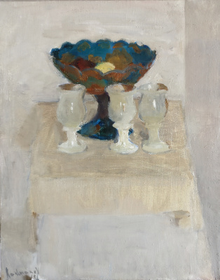 Samir Rakhmanov. White Composition with a Vase