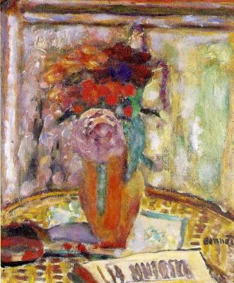 Pierre Bonnard. Vase with flowers