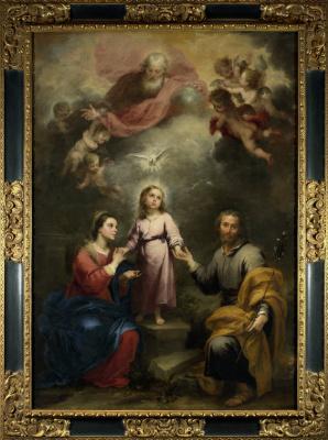 Bartolomé Esteban Murillo. Heavenly and earthly Trinity