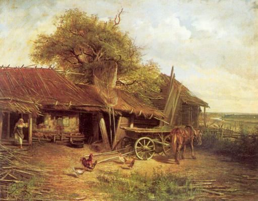 Александр Павлович Попов-Московский. Деревенский двор