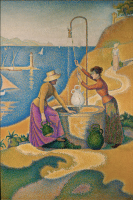 Paul Signac. The woman at the well