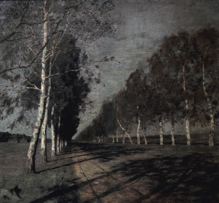 Isaac Levitan. Moonlit night. A great way