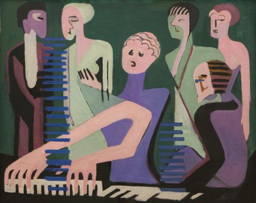 Ernst Ludwig Kirchner. Pianist
