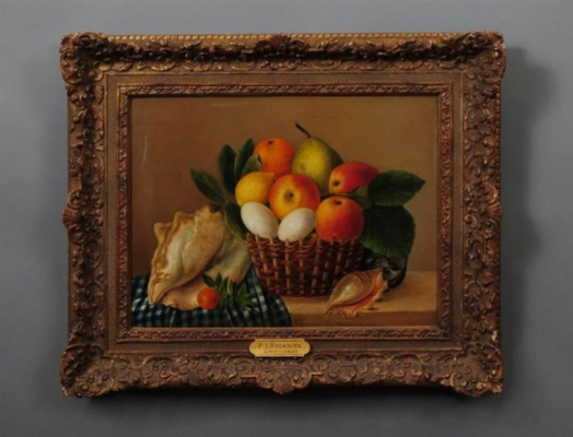 Pierre-Joseph Redoute. Still life with a sink and fruit