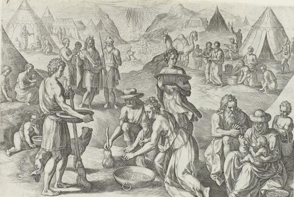 Aegidius Sadeler. Manna from the Sky