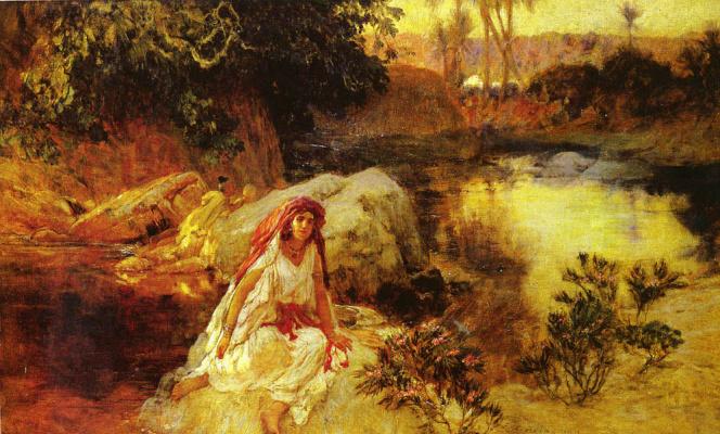 Frederick Arthur Bridgman. In the oasis