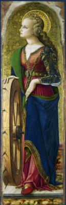 Carlo Crivelli. Saint Catherine Of Alexandria. The Central altar of San Domenico in Ascoli. Fragment
