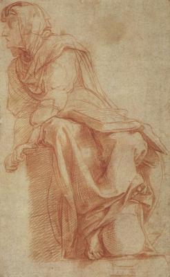 Raphael Santi. Sybil Kuma. Sketches for the mosaics of the Capella Chigi