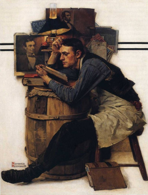 Norman Rockwell. Student, studying law