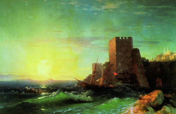 Ivan Constantinovich Aivazovski. Towers on a rock near the Bosphorus