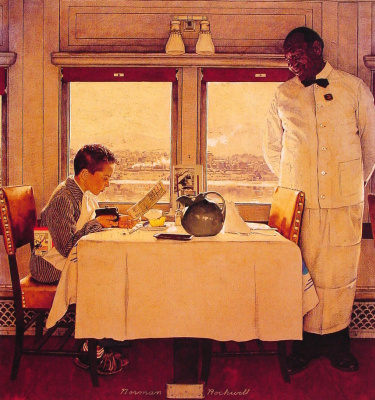 Norman Rockwell. The restaurant car