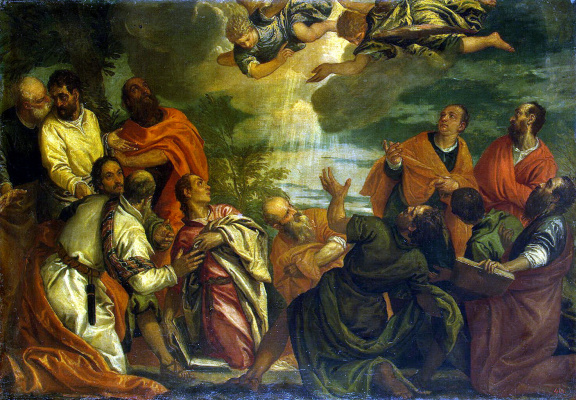 Alvise Benfatto del Frieso. The descent of the Holy spirit on the Apostles