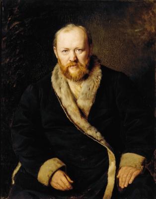 Vasily Grigorievich Perov. Portrait of playwright A. N. Ostrovsky