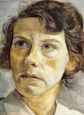 Lucien Freud. Portrait of Lady Elizabeth Cavendish