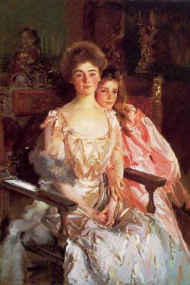 John Singer Sargent. Mrs. Fiske Warren and her daughter Rachel