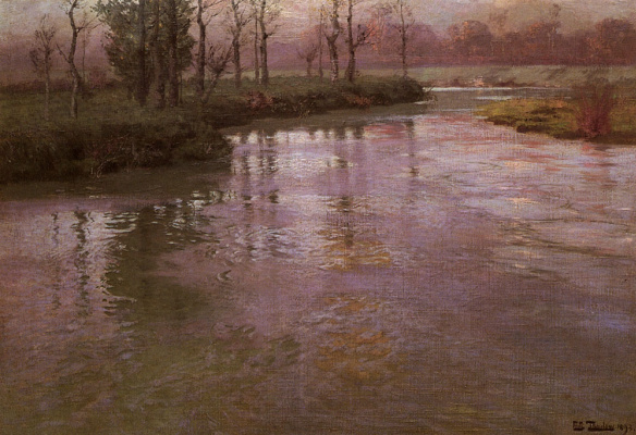 Frits Thaulow. On the French river