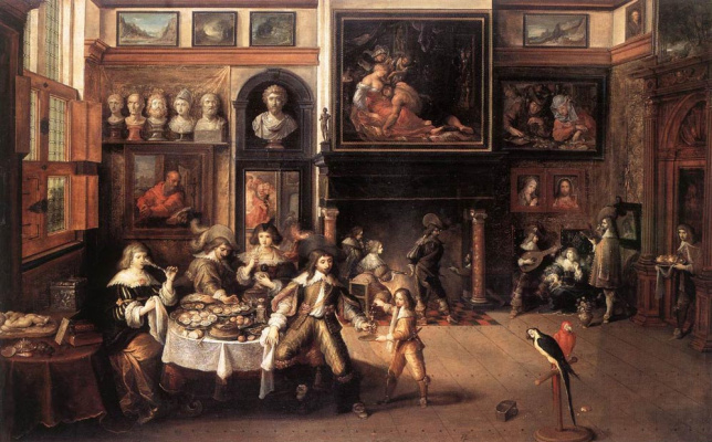 Frans Franken the Younger. Dinner
