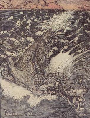 Arthur Rackham. Leviathan