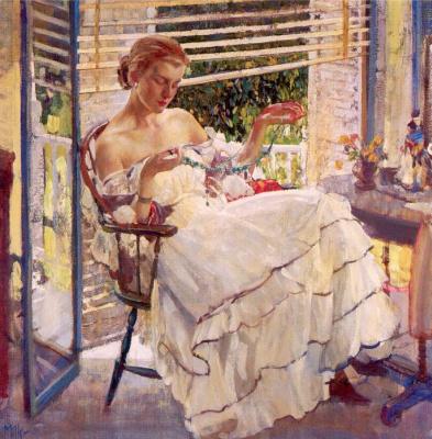 Эдуард Миллер. Девушка у окна