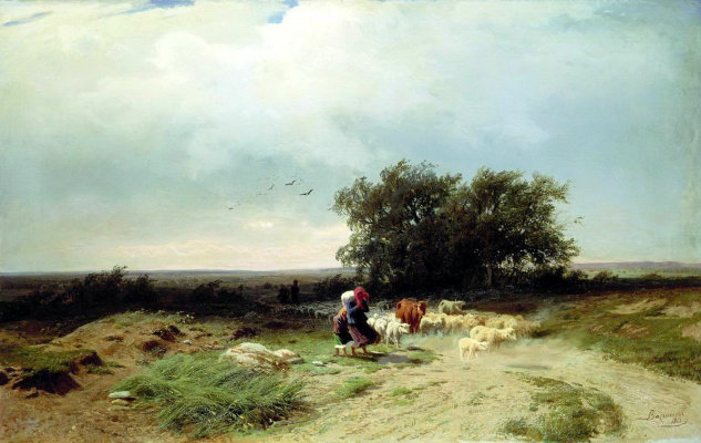 Fedor Alexandrovich Vasilyev. The return of the flock