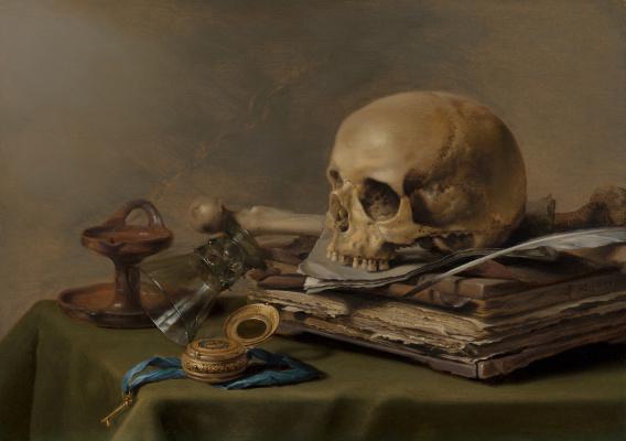 Peter Class. Still life with skull (Vanitas)