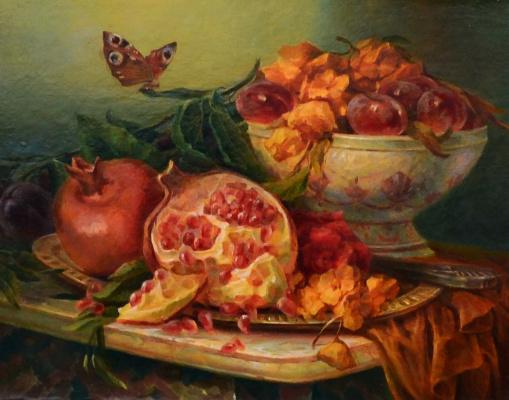 Юлия Дмитриевна Астровская. Still life with pomegranate