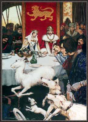 Arthur Rackham. Royal Wedding Feast