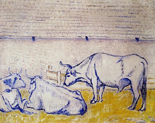 David Davidovich Burliuk. Oxen