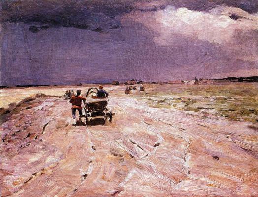 Kiriak Konstantinovich Kostandi. Before the storm