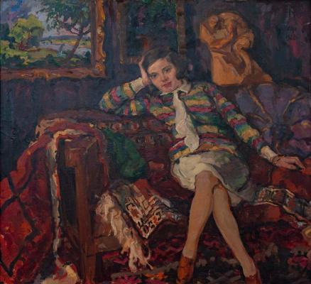 Адальберт Михайлович Эрдели. Юная художница