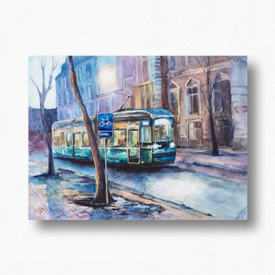 "Olga Deikova. ""Evening tram"" / ""Evening tram"""