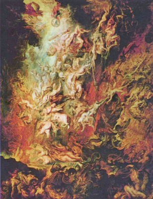 Peter Paul Rubens. The overthrow of the fallen angels in hell