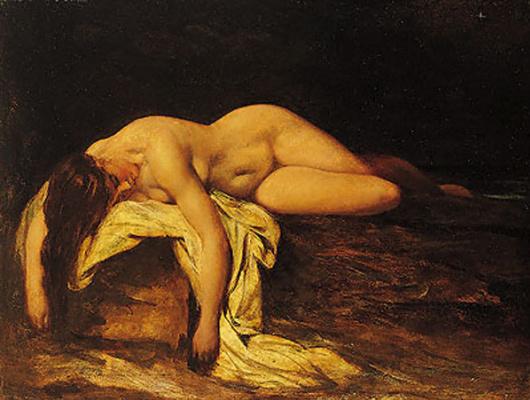 Etty William. Nude woman asleep