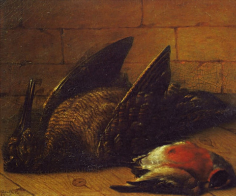 Иоган  (Иван Федорович) Фридрих Гроот. Натюрморт. Битая птица