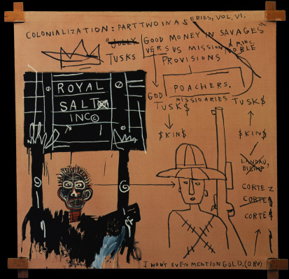 Jean-Michel Basquiat. The natives trafficked weapons and the Bible on Safari