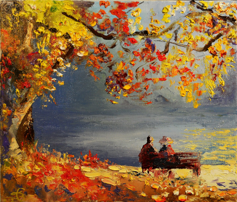 Vadim Anatolyevich Stolyarov. Autumn evening