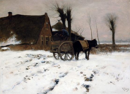 Антон Мауве. Ферма зимой