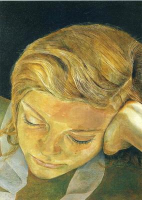 Lucien Freud. Reading girl