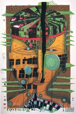 Friedensreich Hundertwasser. One of five sailors