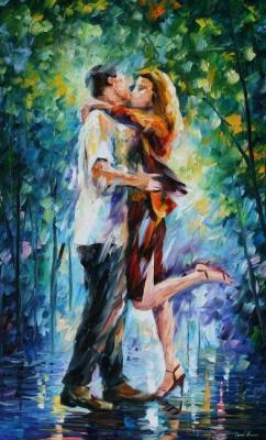 Leonid Afremov. Passionate kiss