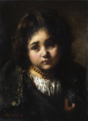 Алексей Алексеевич Харламов. Портрет девочки.