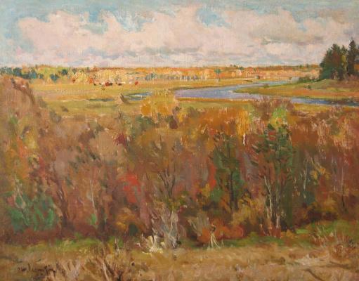 Samuil Grigorievich Nevelstein. Autumn at Akademichka.
