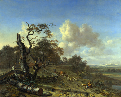 Yang Veinants. Landscape with dead tree